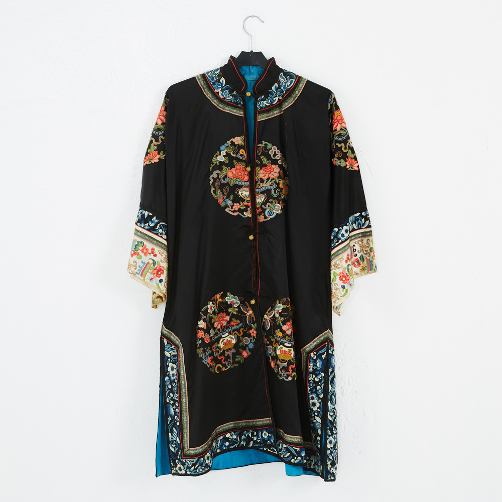 d65d00618ad85 Details about ANTIQUE CHINESE ROBE COURT DRESS IMPERIAL EMBROIDERED SILK  QING DYNAS EMBROIDER